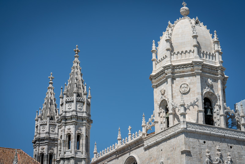 The belltower on the main chapel at Jerónimos Monastery.