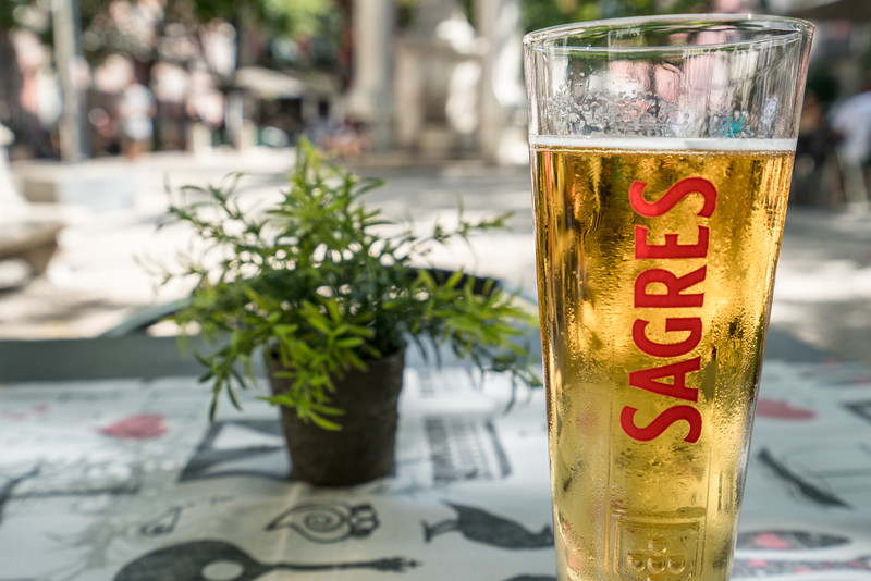 The charming Largo Do Carmo square is the perfect place to cool off with a beer on a hot afternoon.