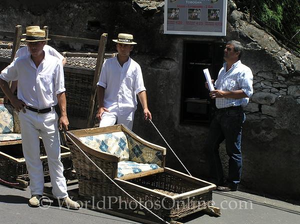 Funchal - Wicker Basket Toboggan Ride from Monte