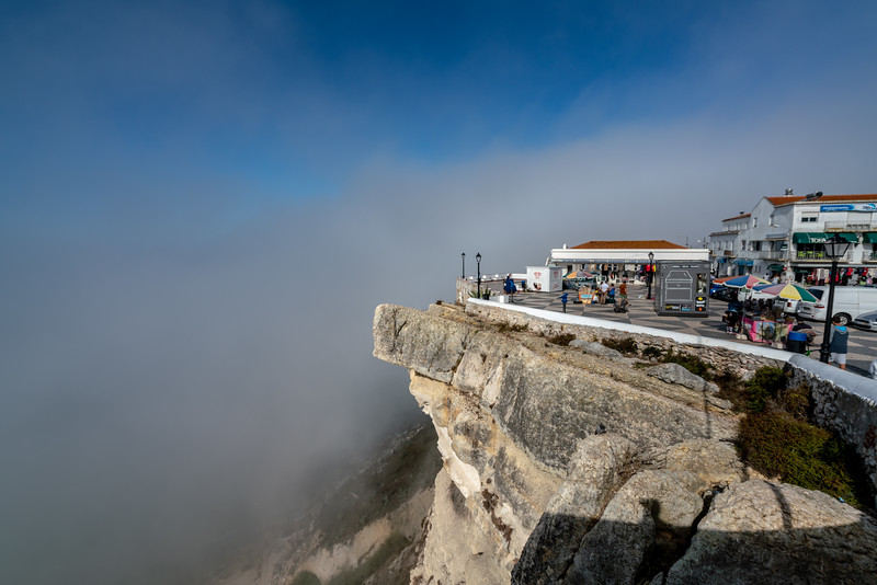 The Sitio neighborhood of Nazare sits high on a cliff overlooking the main part of town and the beach.