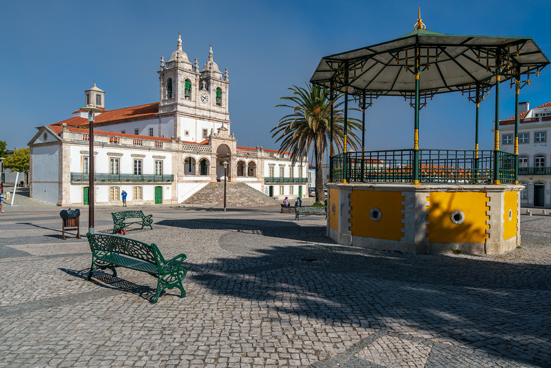 Sitio main square and Our Lady of Nazare.
