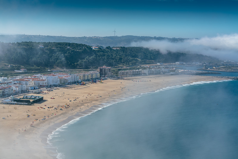 Overlooking Nazare and the beach from Sitio. The mist was rolling in and out, reminding me of northern California.