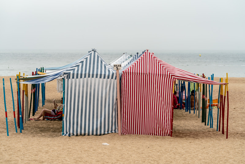 Beach tents in Nazare.
