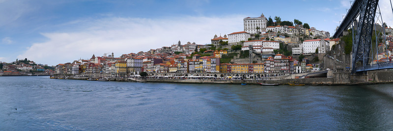 Douro Rive and Dom Luís Bridge panorama