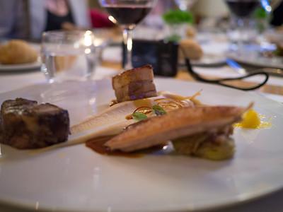 The gourmet food looked very good