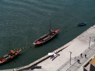 Barge on the Douro Rive from Dom Luís Bridge