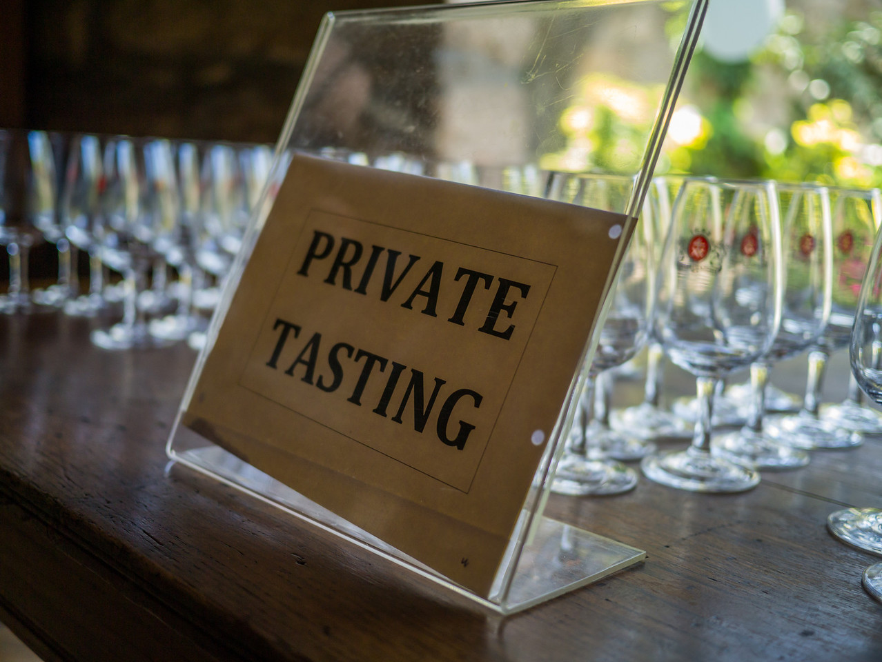Our private tasting table