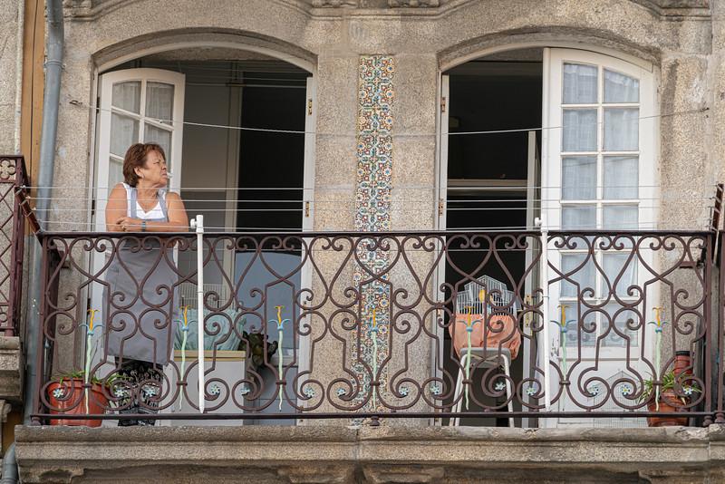 Balcony life in Porto.