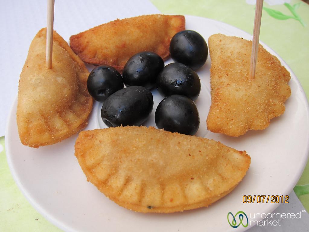 Snacks at Mercado Bolhão - Porto, Portugal