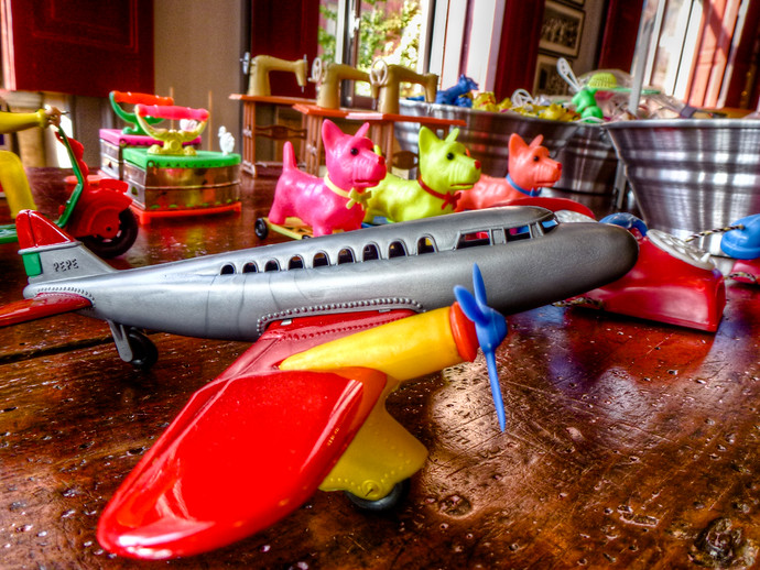 colorful toy airplane