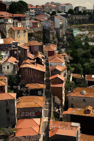 Houses bordering the river. Porto. June 2019
