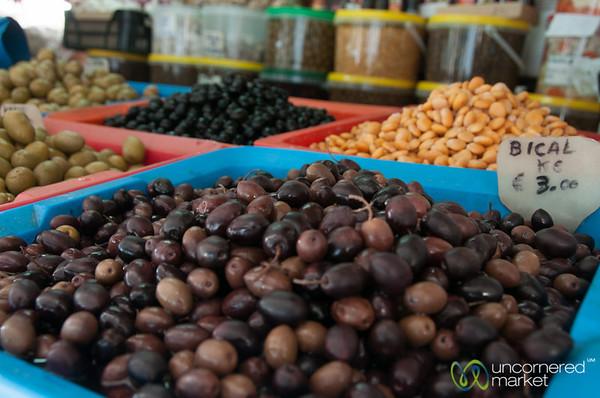 Olives at Mercado Bolhão in Porto, Portugal