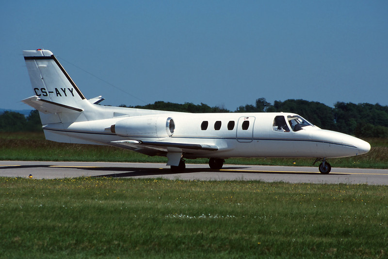 CS-AYY Cessna 501 Citation ISP c/n 501-0183 Luxembourg/ELLX/ELLX 30-05-97 (35mm slide)