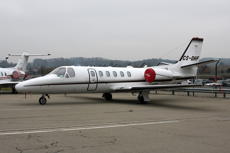 CS-DHF Cessna 550 Citation Bravo c/n 550-1025 Zurich/LSZH/ZRH 26-01-12