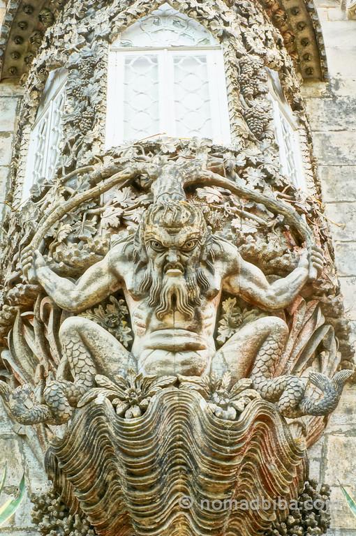 Triton figure at the Pena Palace