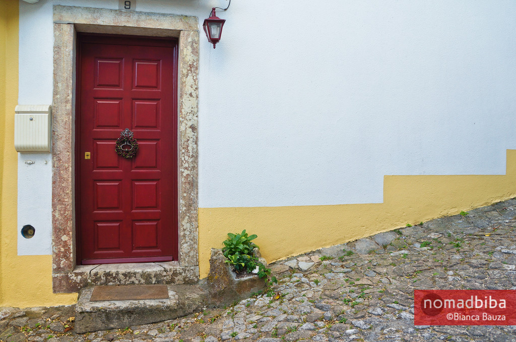 Red door in Sintra, Portugal
