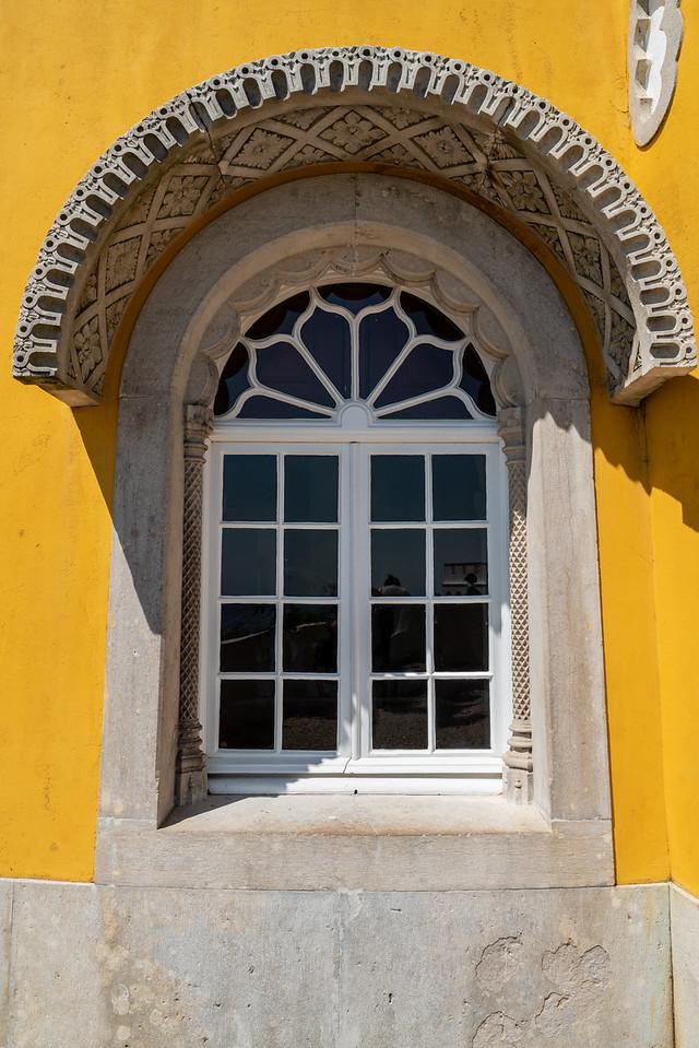 Window detail at Pena Palace.