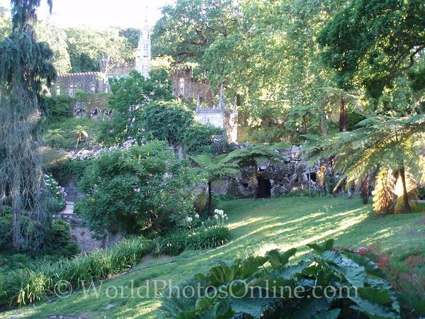 Sintra - Quinta da Regaleira - Garden looking toward Chapel