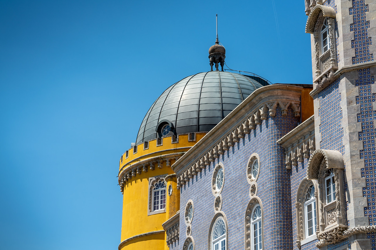 Tilework and dome, Pena Palace.