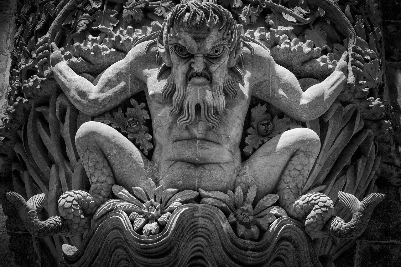 Detail of the Arch of the Triton, Pena Palace.