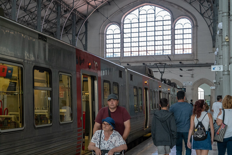 Arriving back in Lisbon Rossio Station.