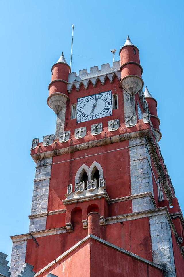 The clock tower at Pena Palace.