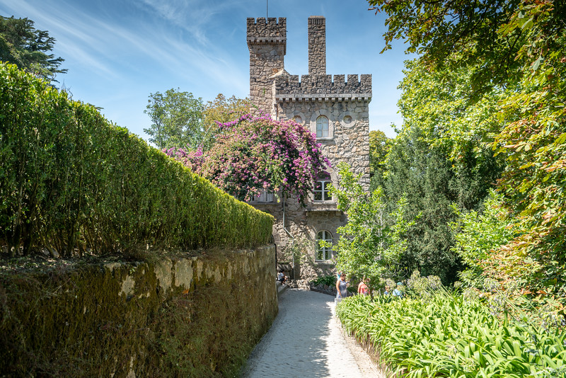 Small house with tower on the grounds of Quinta da Regaleira.