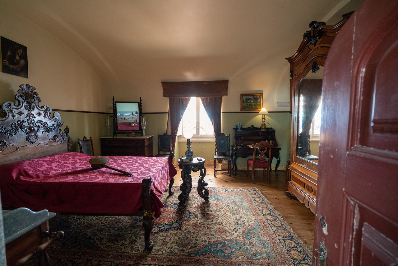A palace bedroom.