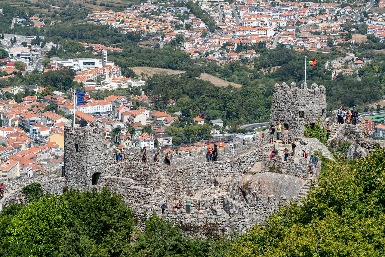 The view of the lower part of the castle from the upper wall.