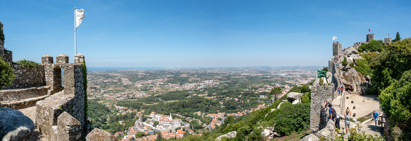 A panorama from the Morrish Castle overlooking Sintra.