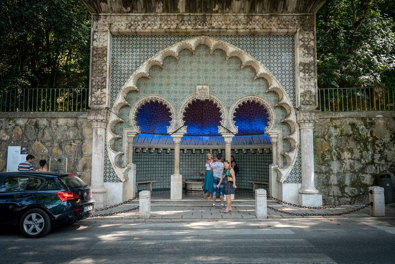 A Moorish fountain in Sintra.