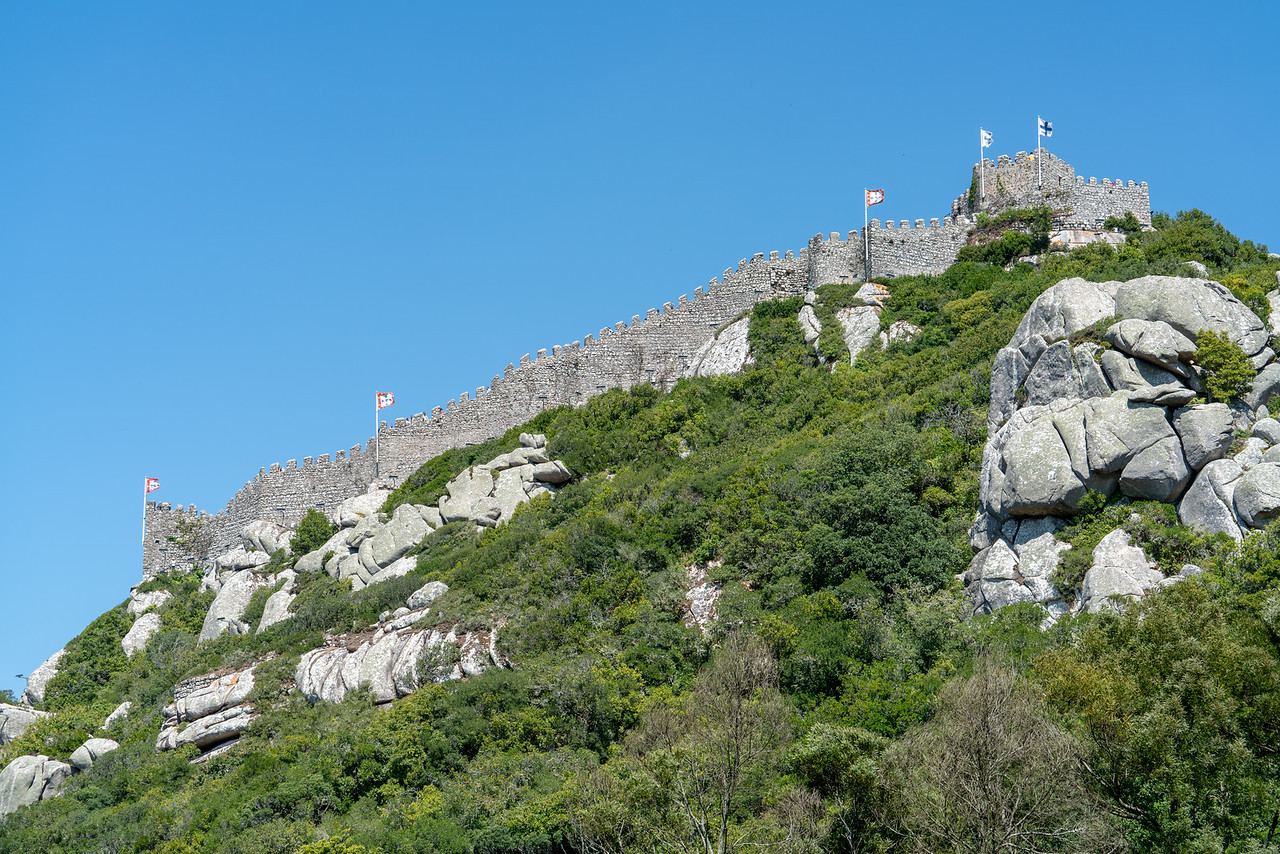 I continue my walk down the hill towards Sintra, looking back up at the Moorish Castle.