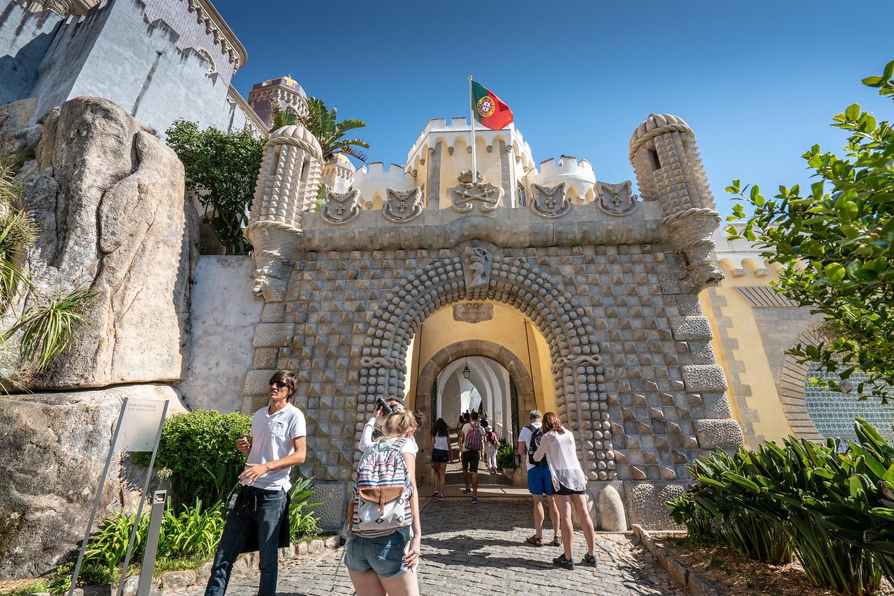 The Porta Férrea, or Iron Gate, is the main entrance to Pena Palace.