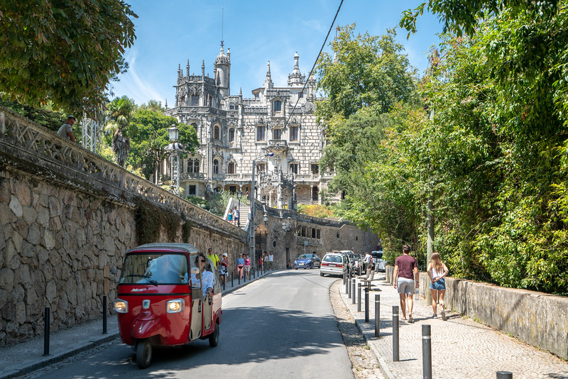 Approaching the Quinta da Regaleira from Sintra. This 1912 mansion and garden was designed by Italian opera-set designer Luigi Manini for a wealthy monarchist two years after the royal family was deposed.  The grounds a fascinating to explore. I think kids especially would like it.