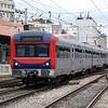 A class 2200 EMU arriving into Lisboa Santa Apolonia.