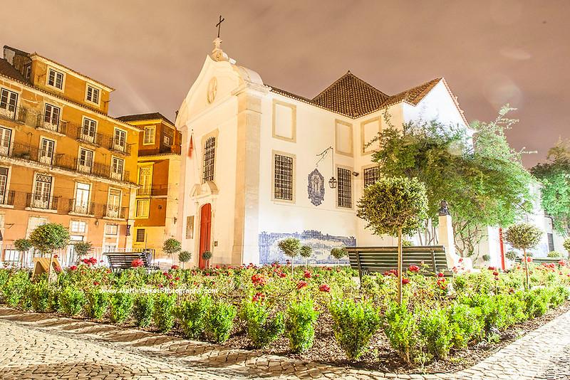 Church of Santa Luzia, Alfama, Lisbon, Portugal.