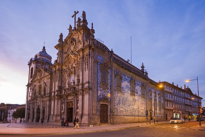 church with ceramic tiles on the side Porto