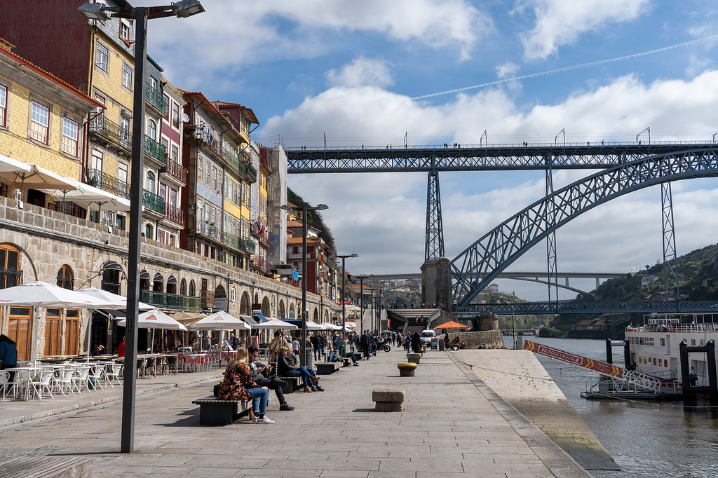 Ribeira and Luis I Bridge in Porto