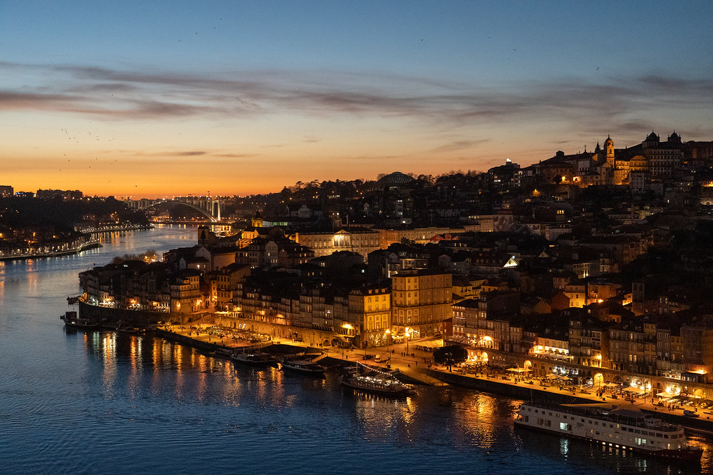 Porto at dusk