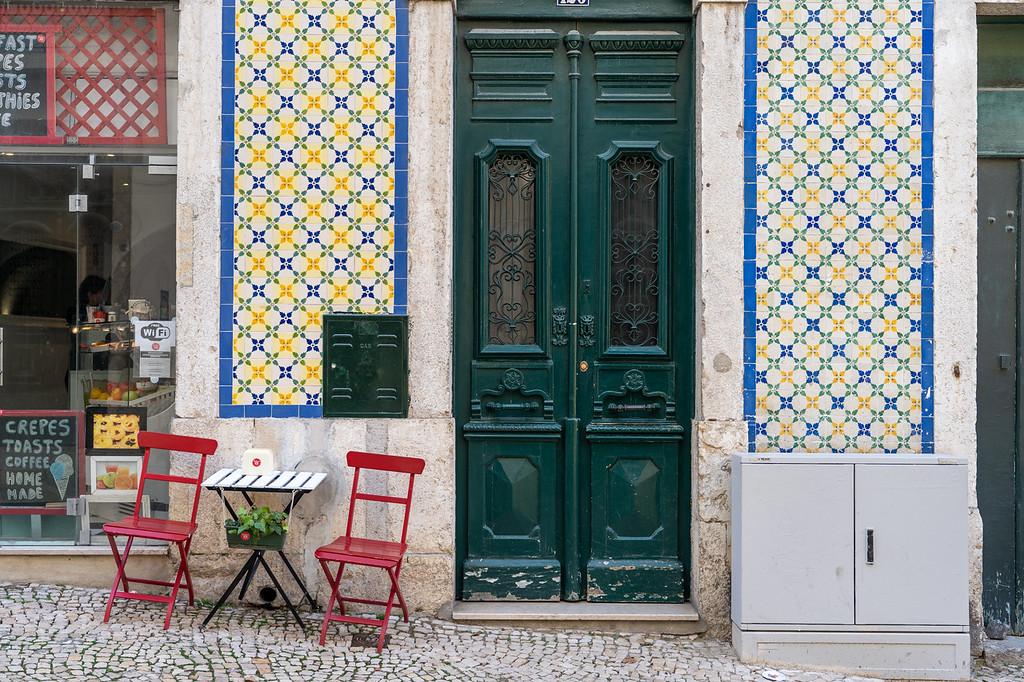 Alfama street in Lisbon