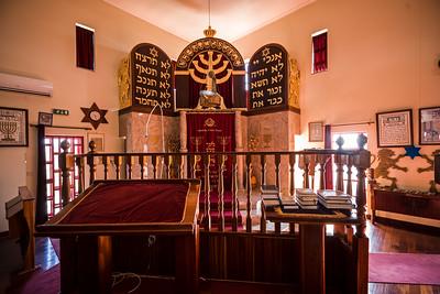pulpit and ark Sinagoga Bet Eliahu Belmonte