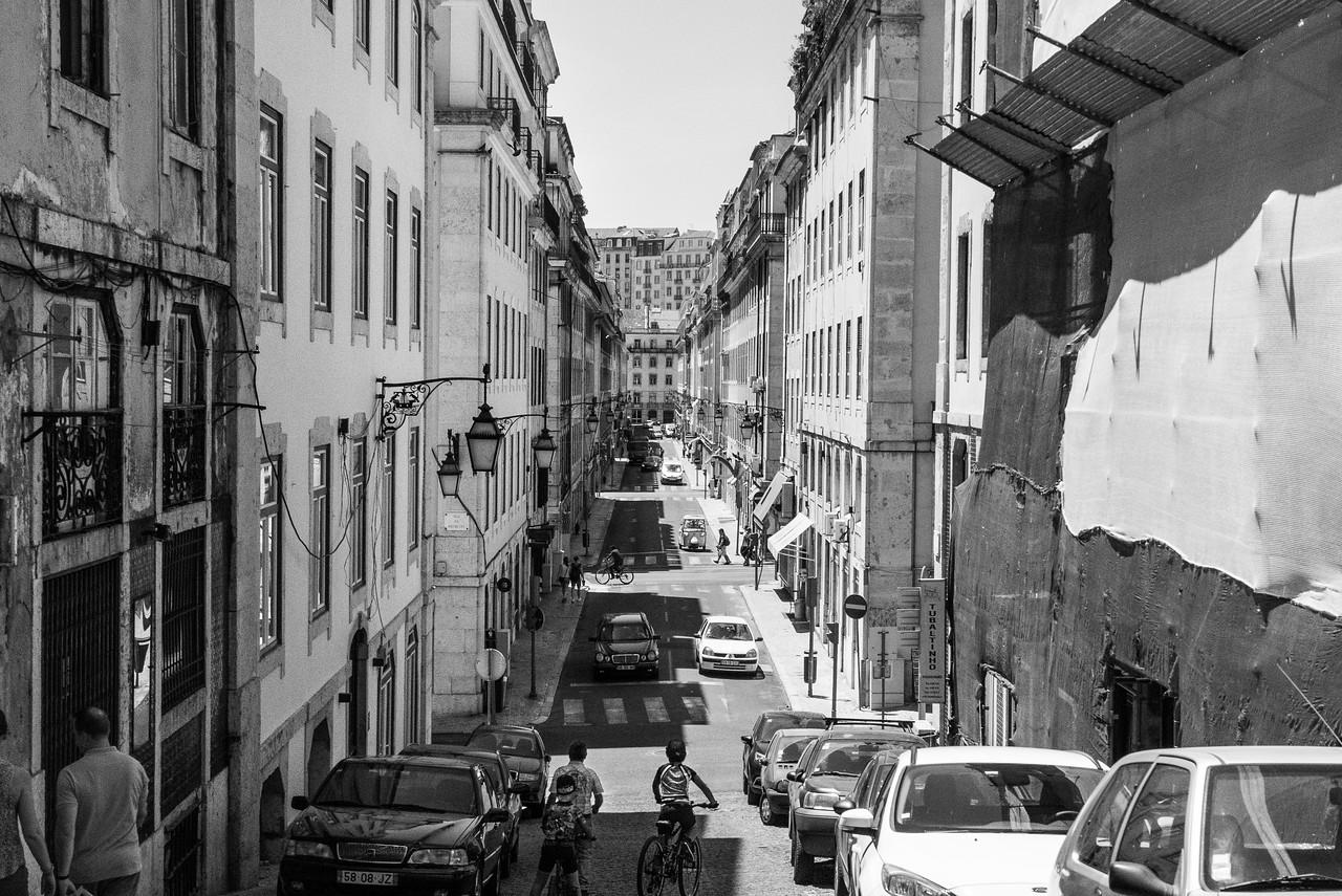 Lisbon Baixa City Streets