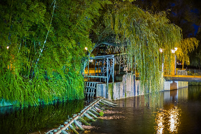 willows weir and water wheel Tomar