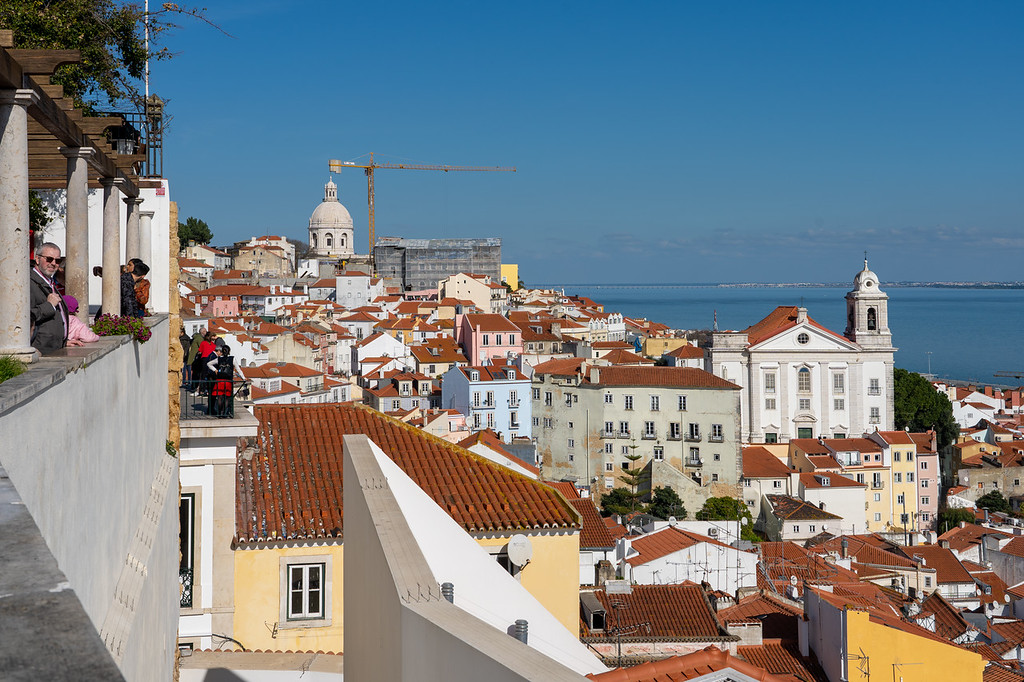 Miradouro de Santa Luzia in Lisbon