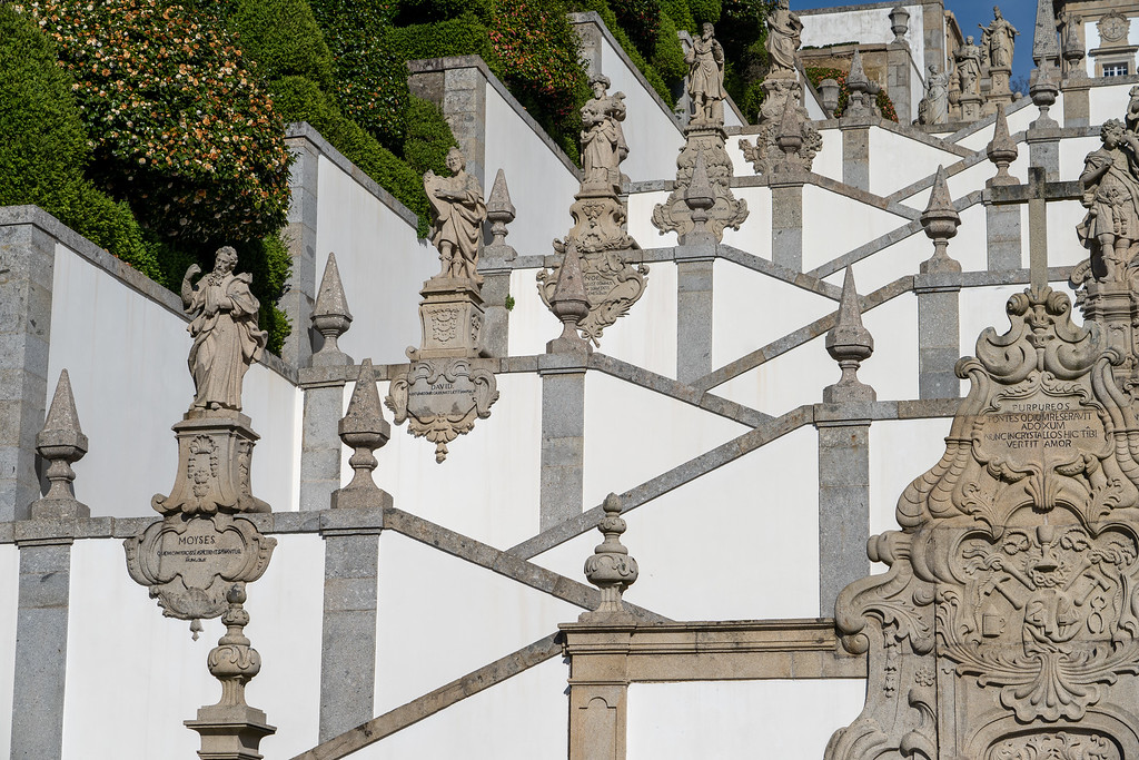 Details on the Bom Jesus do Monte staircase