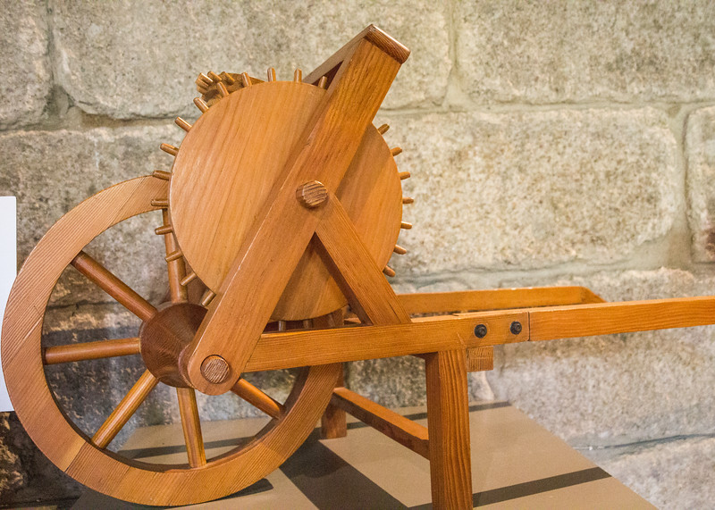Leonardo da Vinci Created the Design for a Mechanical Method for Measuring Distance. With Each Revolution of the Wheel in Contact with the Ground a Finite Pre-Measured Distance was Covered. This Caused the Vertical Cogged Wheel to Advance One Pin (©simon@myeclecticimages.com)
