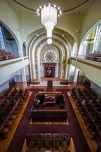 straight balcony view Kadoorie Synagogue Porto