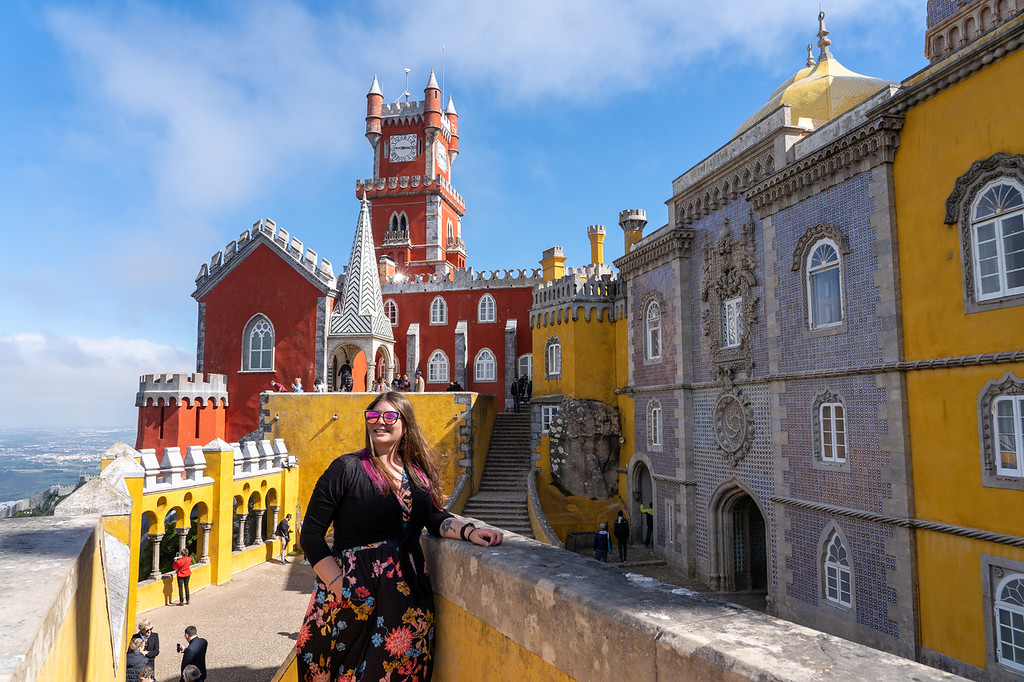 Amanda at Pena Palace in Sintra