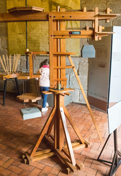 Model of a Crane that is a Precursor of the Ubiquitous Modern Tower Crane. The Design by Leonardo da Vinci Included Raising the Load, Swiveling to a New Location and Lateral Travel Balanced by a Counterweight (©simon@myeclecticimages.com)