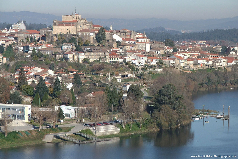 Tuy, Spain.  View from Valença do Minho, The Minho, Portugal.